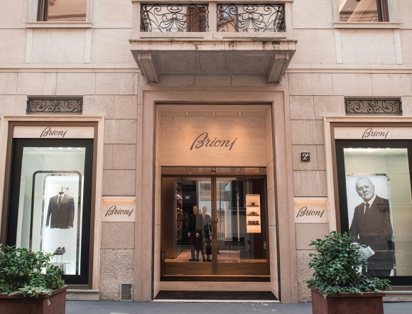brioni milan luxury locations are yielding double digit returns