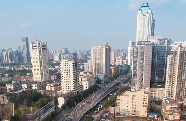 chinese cities such as wuhan are experiencing massive urbanisation