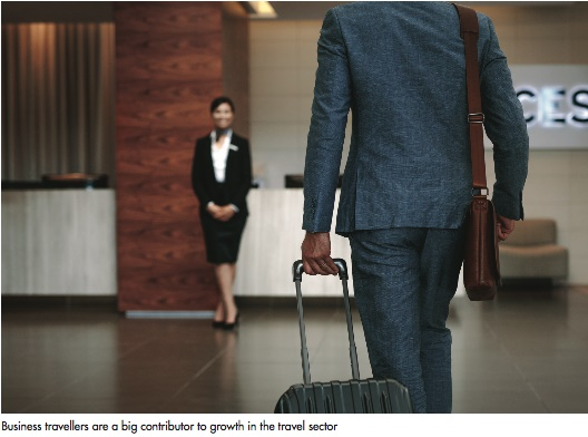 business travellers are a big contributor to growth in the travel sector