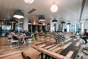 WeWork co-working space in London's South Bank