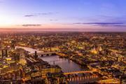 London aerial shot