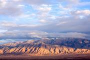 The Sandia Mountains east of Albuquerque, New Mexico