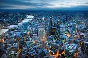 Aerial shot of London showing rendering of 40 Leadenhall development