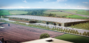logistics capital partners site in italy will accommodate a 100000sqm amazon fulfilment centre as shown in this artists impression