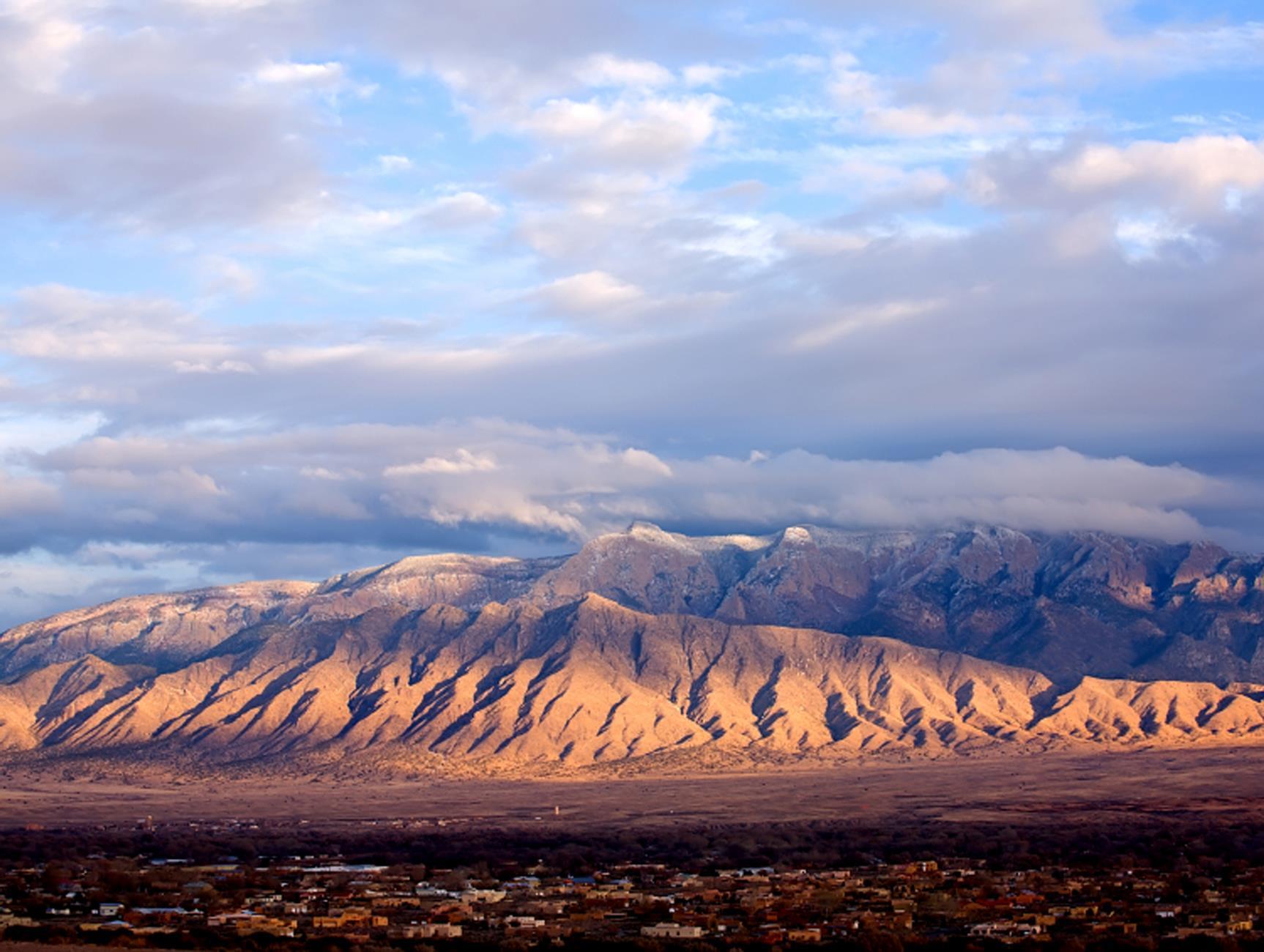 The Sandia Mountains east of Albuquerque, New Mexico