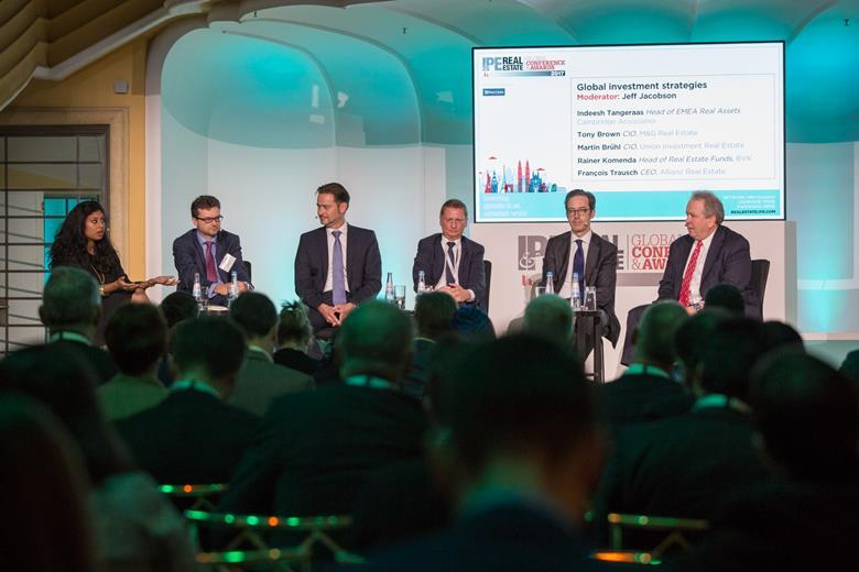 IPE RE Global Awards & Conference 2017, Munich, global investment panel